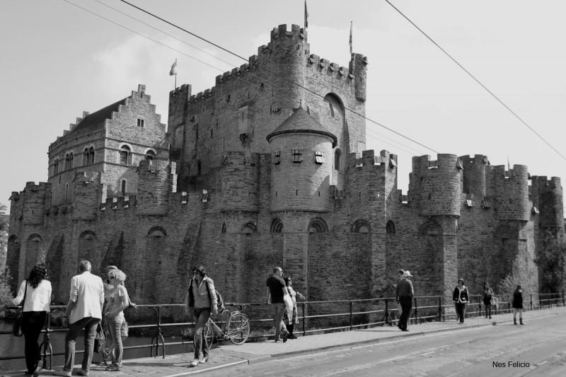 ghent belgium medieval castle of the counts gravensteen
